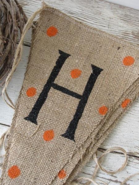 Make A Burlap Banner For Harvest The Happy Homester